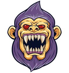Cartoon monster head vector