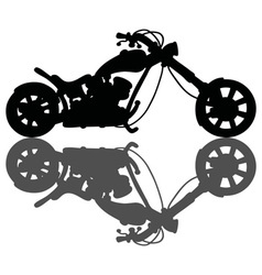 Chopper black silhouette vector