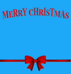 Christmas card with a red bow vector
