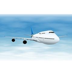 Commercial aircraft vector