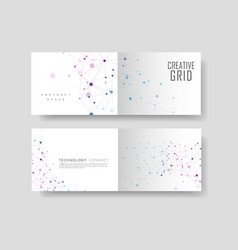 connect lines and dots cover brochure vector image
