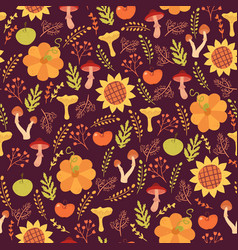 cute harves seamless pattern vector image