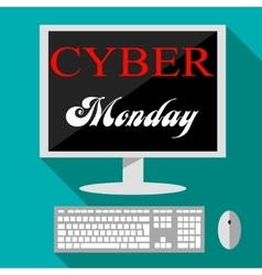 Cyber monday deals design vector image