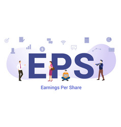 Eps earnings per share concept with big word or vector