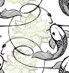 Fishing seamless pattern vector image