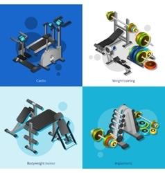 Fitness Equipment Image Set vector