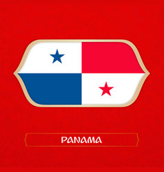 Flag of panama is made in football style vector