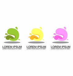 flat geometric liquid shapes with various colors vector image