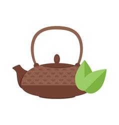 flat style of tea pot vector image