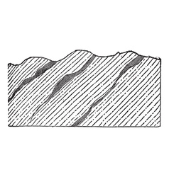 Geological Vein vintage engraved vector