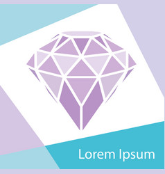 geometrical purple diamond with frame background vector image