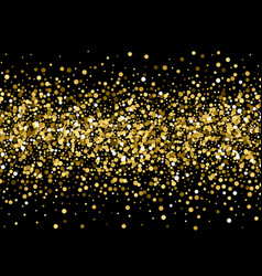 gold sparkles on black background gold glitter vector image