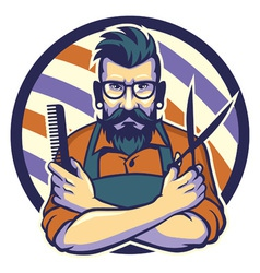 Hairstylist vector