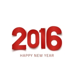 Happy New Year 2016 poster template vector image