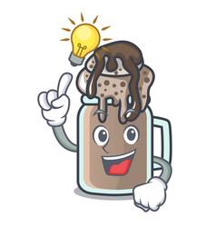 Have an idea milkshake mascot cartoon style vector