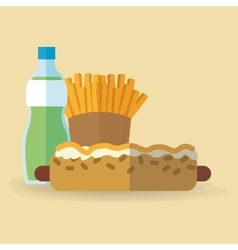Hot dog food design vector