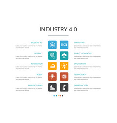 Industry 40 infographic 10 option template vector