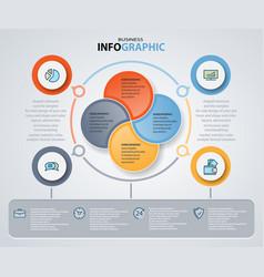 infographics web design marketing icons vector image