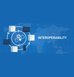Interoperability different technology software vector
