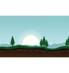 Landscape of spruce tree background vector