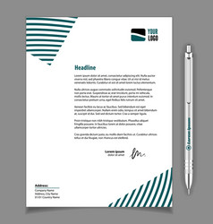 letterhead template design in minimalist style vector image