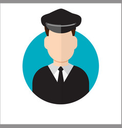 Limo driver limousine driver icon vector