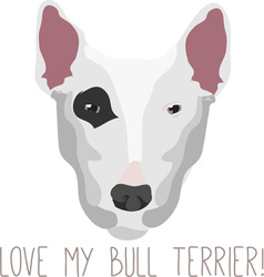 Love Terrier vector image