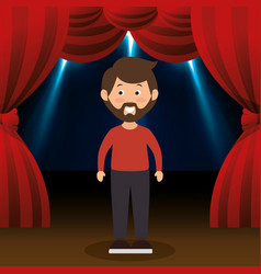 Man avatar in theater vector
