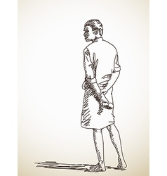 Man in lungi vector