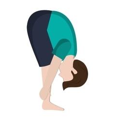 Man in yoga pose icon vector