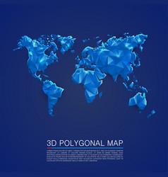Map 3d polygon art cover vector