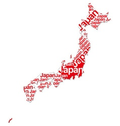 Map of Japan 1 vector image