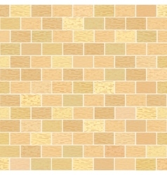 Masonry of yellow bricks different shades vector image
