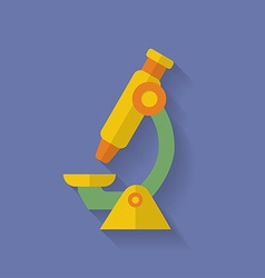 Microscope icon Flat style vector