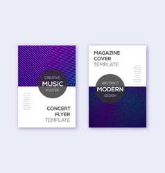 modern cover design template set neon abstract li vector image