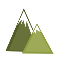 Mountains ice natural icon vector