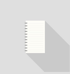note book icon with long shadow vector image