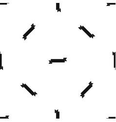 origami ribbon pattern seamless black vector image