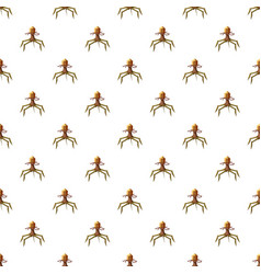 Parasite pattern seamless vector