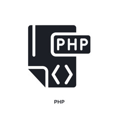 php isolated icon simple element from programming vector image