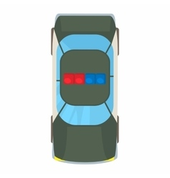 Police car top view icon cartoon style vector image