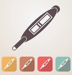 Pregnancy test flat icon set in color boxes with vector