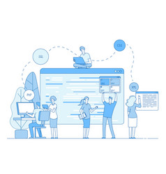 programmers coding website coders write source vector image