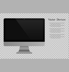 realistic computer monitor isolated background vector image