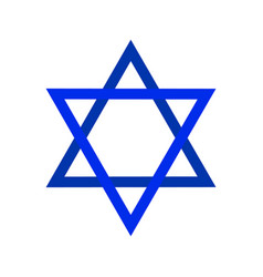Sacred symbol star of david shield of david vector