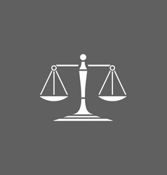 Scales of justice icon on a dark background vector
