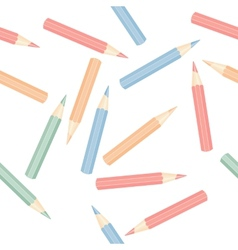 Seamless pencils vector image