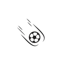 soccer ball template design vector image