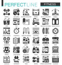 sport and fitness classic black mini concept vector image