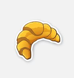 Sticker croissant vector